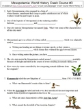 World History Crash Course #3 (Mesopotamia) worksheet