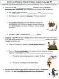 World History Crash Course #7 (Chinese History) worksheet
