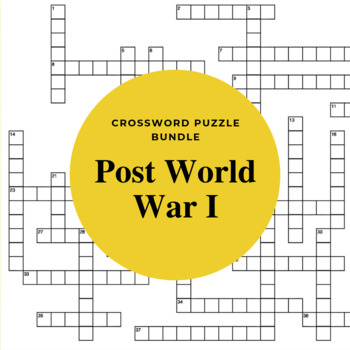 World History Crossword Puzzles: Post World War I