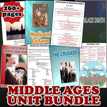 Middle Ages Unit / Early to High Middle Ages *Unit Bundle*