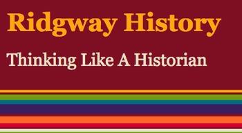 Ridgway History   World History Episode 1: Thinking Like A