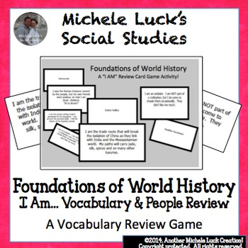 """World History Foundations """"I Am..."""" Review Game Cards AP Ready"""