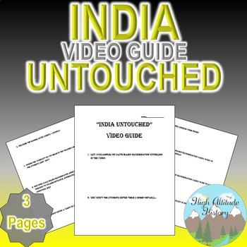India Untouched Video Guide (World History / Geography / W