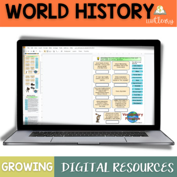 World History Google Classroom and One Drive Activities Gr