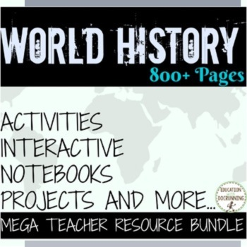 World History Middle school Ultimate Resource Bundle (MY LIBRARY)