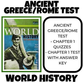 Ancient Greece and Rome test Prentice Hall World History
