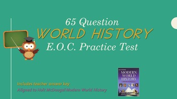 World History Practice End of Course (EOC) Exam
