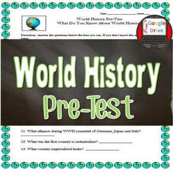 World History Pre-Test (to gain prior-knowledge)