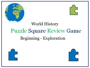 World History Puzzle Square Review Game (Beginning - Exploration)