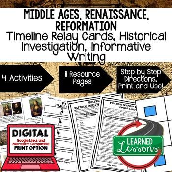 World History Renaissance & Reformation Timeline & Writing