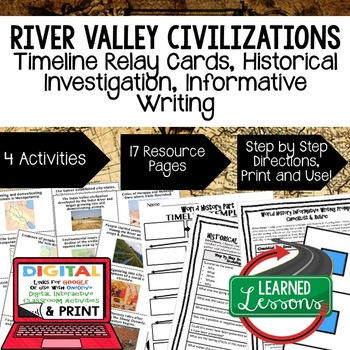 World History River Valley Civilizations Timeline & Writin