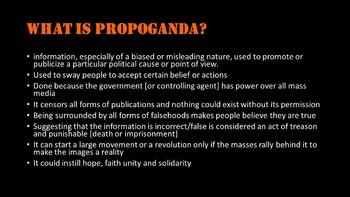 World History: Russian Propaganda- what is propaganda and