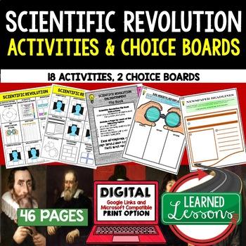 World History Scientific Revolution Choice Board Activitie