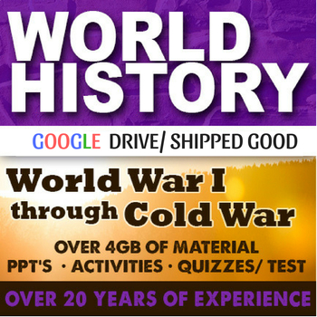 World History World War I to Cold War Second Semester Writ