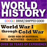 World History Second Semester GIANT BUNDLE 75 Lessons