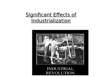 World History- Significant effects and results of the Indu