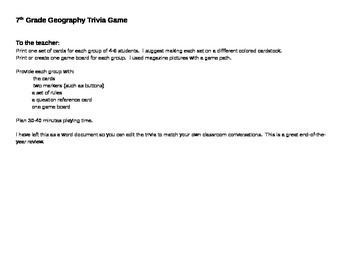 World Geography Trivia