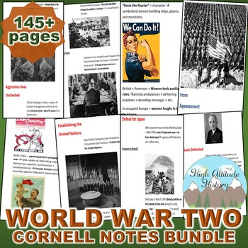 World War Two (WWII) Cornell Notes *Bundle* (World History