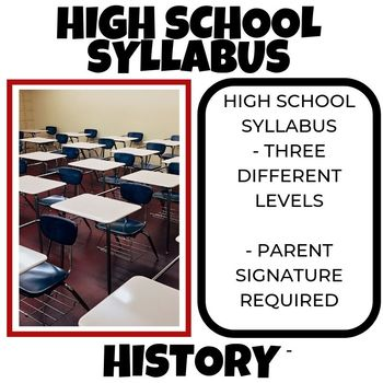 High School Syllabus-Back to School