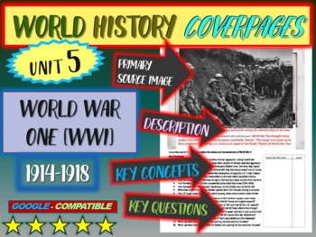 World History Unit 5 study guide: WORLD WAR ONE (Key Terms