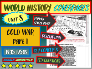 World History Unit 8 study guide:  COLD WAR 45-50s (Key Te