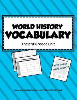 World History Vocabulary - Ancient Greece unit