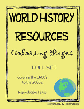 World History Vocabulary Coloring Pages
