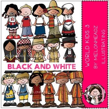 World Kids 3 by Melonheadz BLACK AND WHITE