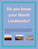 World Landmarks - Do you know the landmarks of the world?
