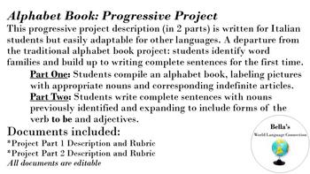 World Language Alphabet Book Progressive Project