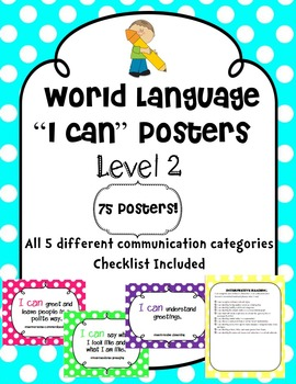 "World Language ""I Can"" Posters Level 2"