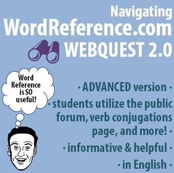 World Language - Navigating WordReference.com Webquest - A