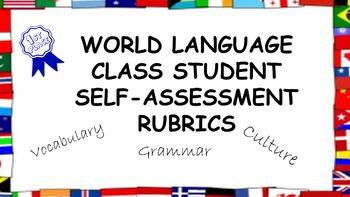 World Language Student Self-Assessment Rubrics: Vocabulary