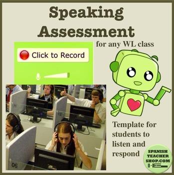 World Language Vocaroo Speaking Assessment Template