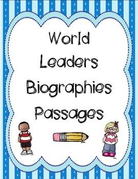 World Leaders Biographies Passages Bundle