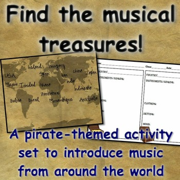 World Music Introduction: Pirates Find the Treasures! Sing Play Create