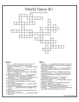 World News Crossword - November 29th, 2015