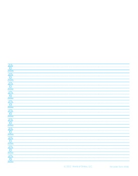 World Of Smiles Handwriting - Advanced Journal Paper Portr