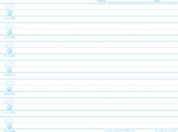 World Of Smiles Handwriting Paper - Beginners Paper (prima