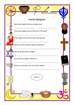 World Religion Prior Knowledge