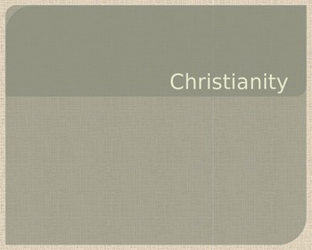 World Religions Christianity