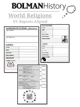World Religions Overview (NYS Regents Aligned)
