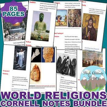 World Religions Cornell Notes *Bundle* (World History / Wo