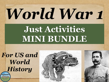 World War 1 Activities Mini Bundle