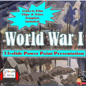 World War I Lecture Power Point Presentation