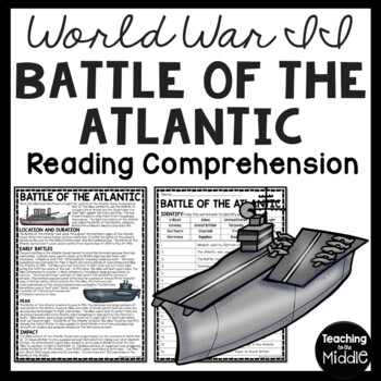 World War 2- Battle of the Atlantic Reading Comprehension
