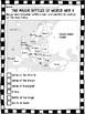 World War 2- Major Battles Chart- Britain, Berlin, Iwo Jim