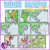 World War 2 Maps clipart
