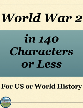 World War 2 Review Activity