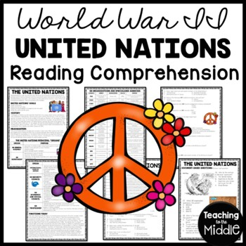 World War 2- The United Nations Reading Comprehension Work